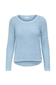 Ensfarvet Strikket pullover