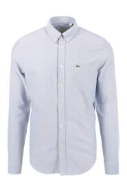 Blå Lacoste oxford  Skjorte