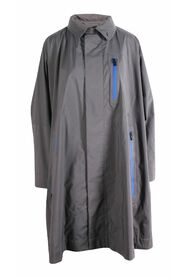 Pre-owned Raincoat With Blue Details