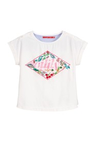 SHORT SLEEVE T-SHIRT WITH SEQUIN LOGO ON THE CHEST