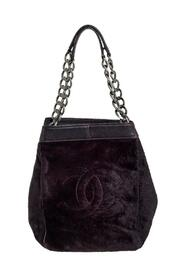 Pre-owned Calf Hair and Leather CC Chain Tote