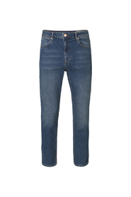 Blå Plain Denim Axel Jeans