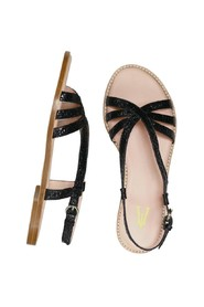 Peinture leather sandals