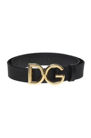 Logo-buckle belt
