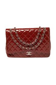 Brukte Quilted Patent Leather Maxi Classic Double Flap Bag