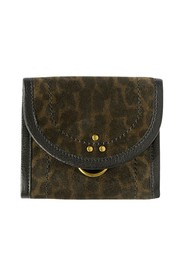 Félix S split leather leopard pattern wallet