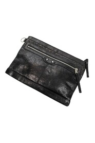 Pre-owned Front Zip Clutch