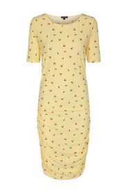 Alma Long Dress SS - Cherry Print