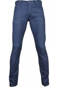 Slim Fit Washed Zipper Jeans
