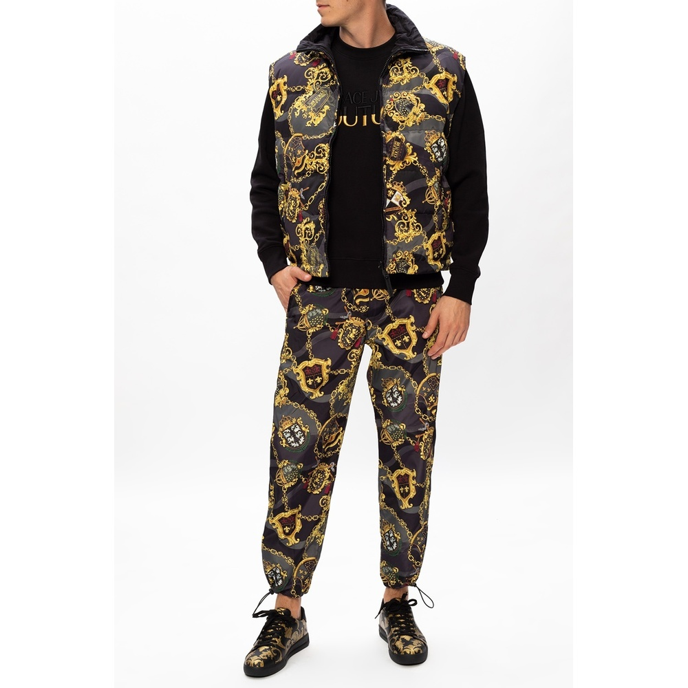 Versace Jeans Couture Black Patterned trousers Versace Jeans Couture