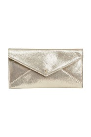 Cassandra foil leather clutch bag