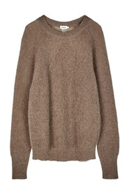 Mohair R-Neck Sweater