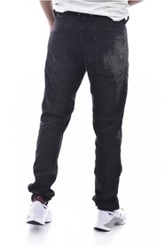 Jean noir sweat pant destroy