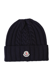 Patched virgin wool hat