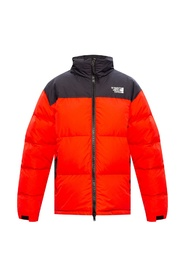 Branded puffer jacket