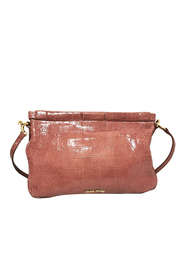 Embossed Patent Leather Frame Crossbody Bag