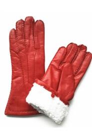 Varm Handsker Skindskind Handsker Lambskin Handsker Håndholdt - Rød