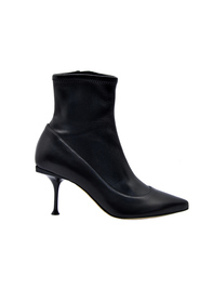 STRETCH LEATHER ANKLE BOOT