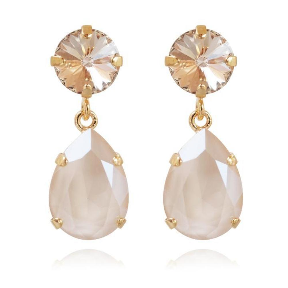 Caroline Svedbom Classic Drop Earrings Ivory cream