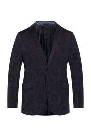 Velvet blazer with notch lapels