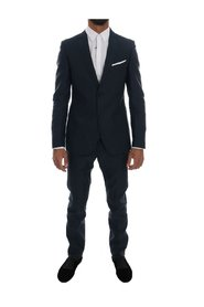 Striped Two Button Slim Fit Suit