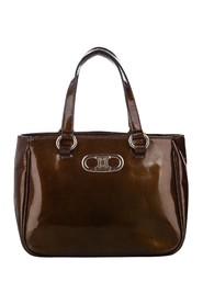 Triomphe Patent Leather Tote Bag