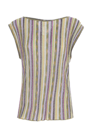 STRIPED TOP rund hals