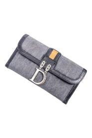 D Logo Bifold Long Flap Wallet