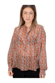 Cody Blouse in leaves