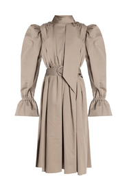 Coat with puff sleeves
