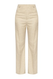 Flared linen trousers