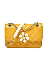 Quilted Patent Leather Crossbody Bag