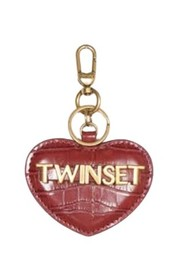COCONUT PRINT HEART KEY RING WITH LETTERING