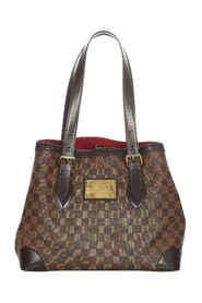 Pre-owned Damier Ebene Hampstead MM Canvas
