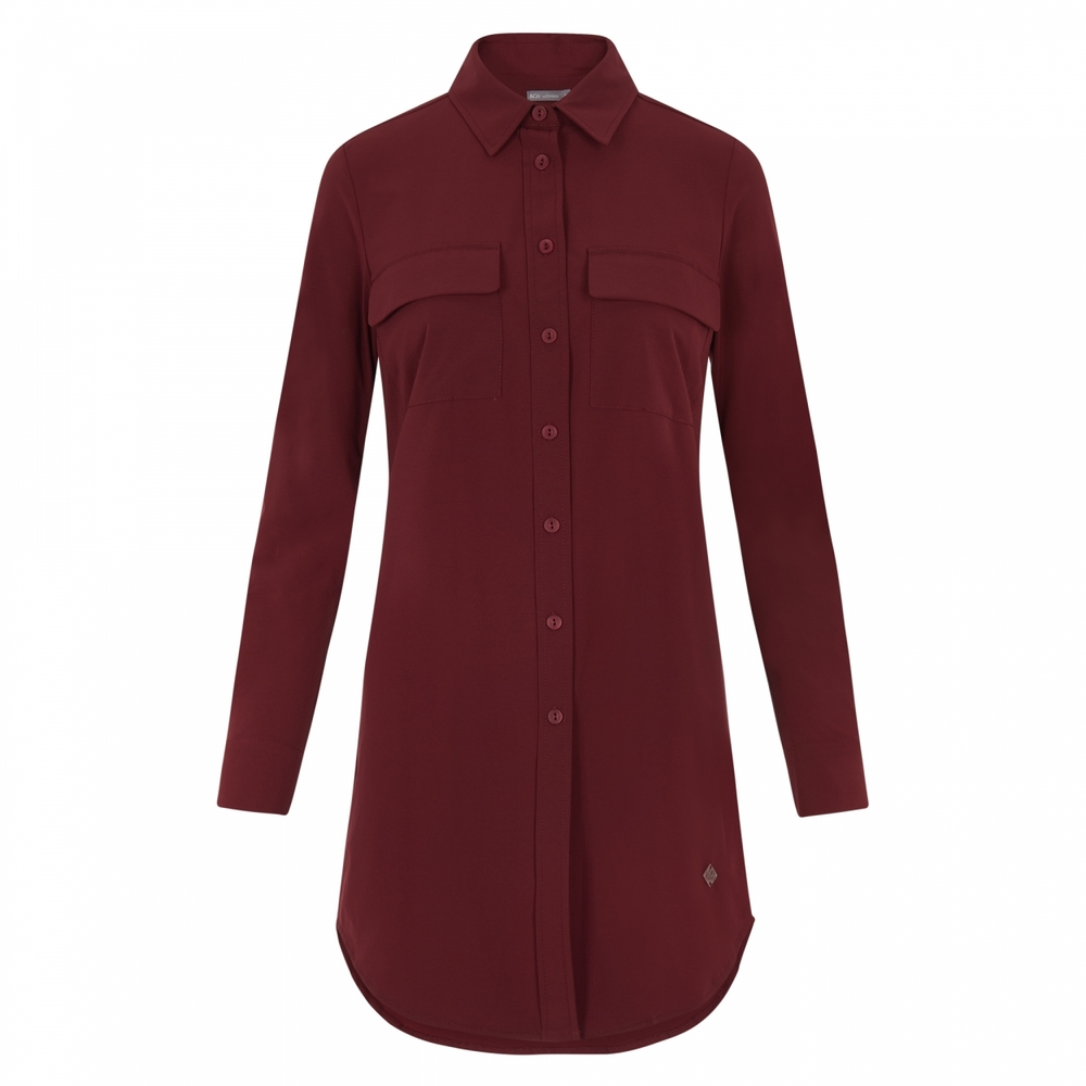 INOA BLOUSE LANG (BORDO)
