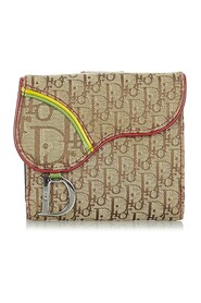 Pre-owned Oblique Rasta Saddle Compact Wallet