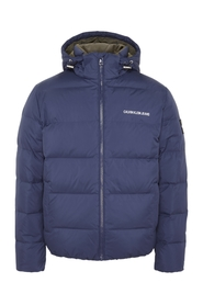 Blå Calvin Klein Jeans Hooded Down Puffer Ytterplagg