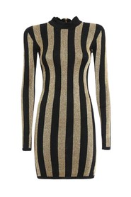 Striped Pattern Mini Dress