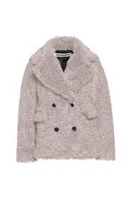 Curly light short coat