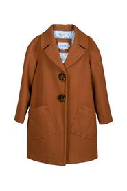 CLOTH COAT WITH LEOPARD BUTTONS