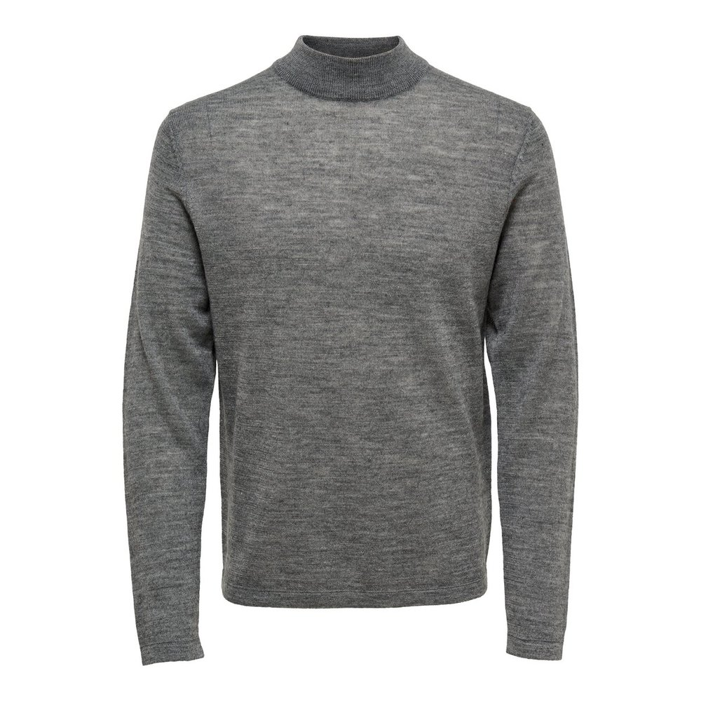 Knitted Pullover Merino turtle neck