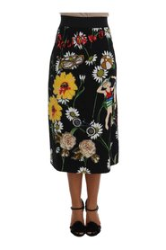 Embellished Daisy Brocade Skirt