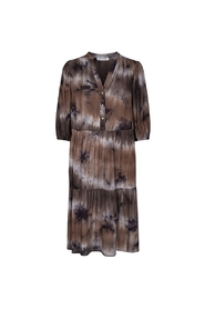 Cream Tie Dye Dress