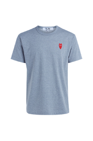 T-Shirt PLAY grigia melange con cuore rosso