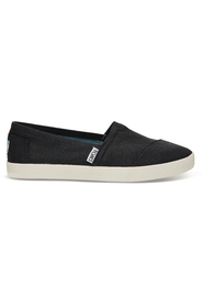 Black Coated Canvas Toms Avalon