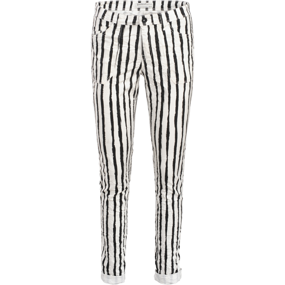 Trousers with stripe pattern