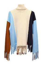Sweater with fringes - J3211133-885