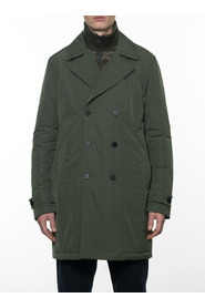 Double-breasted padded trench coat