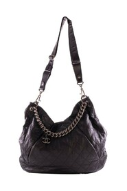 Quilted Calfskin Leather Coco Pleats Large Hobo Bag -Pre Owned Condition Very Good