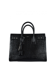 Crocodile-embossed handbag